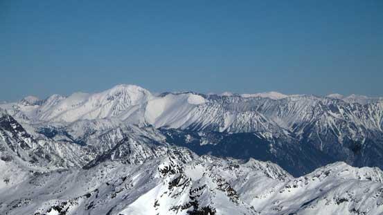 The massive Whitecap Mountain