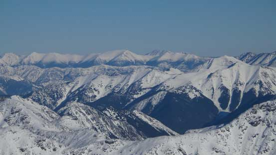 Ridges and peaks here appear more like the Rockies' front ranges