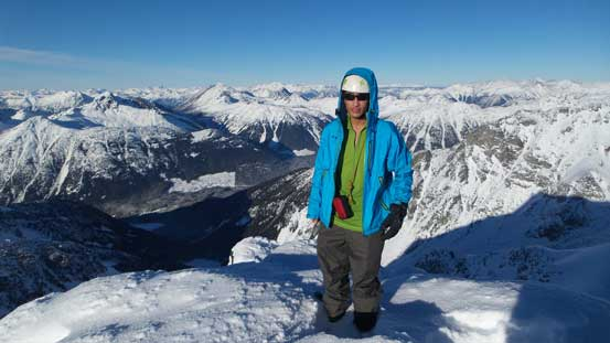 Me on the summit of Slalok Mountain