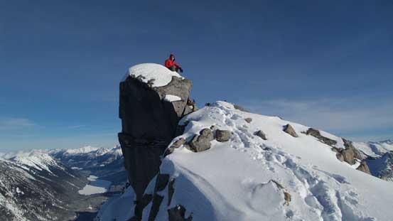 Ben on the summit boulder