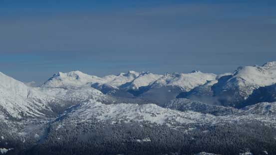 A view towards Mt. Currie - Hibachi Ridge - Ure Peak divide