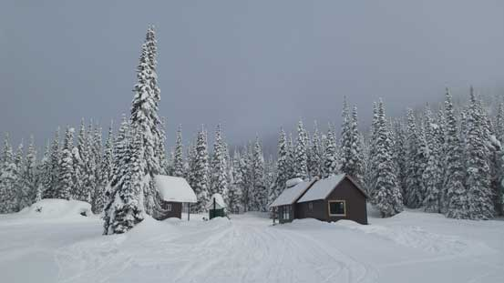 The snowmobiler's cabin