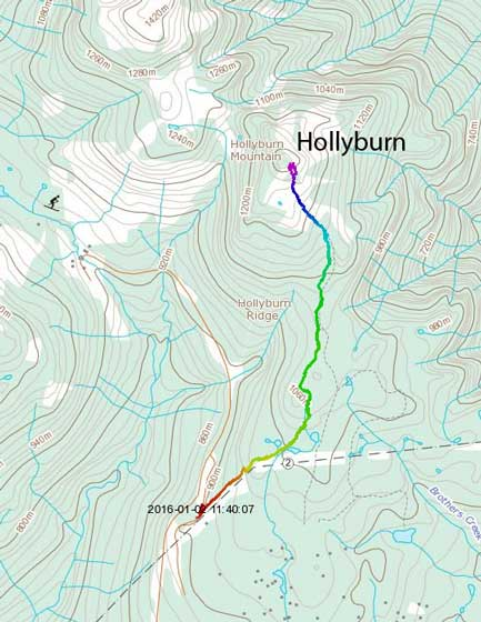 Hollyburn Mountain hiking route