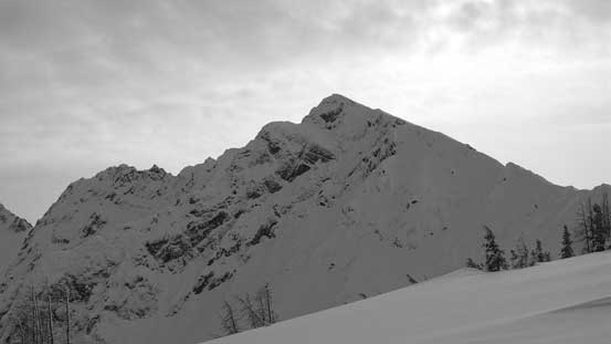 The N. Face of Frosty's west peak.