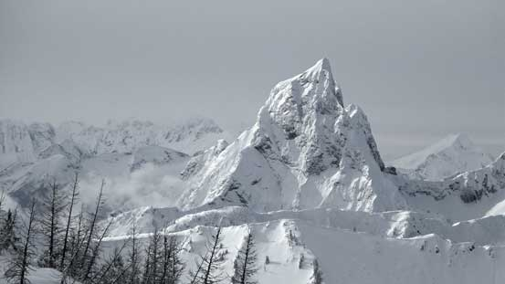 The south peak of Hozomeen is one of the most difficult in Washington by easiest route