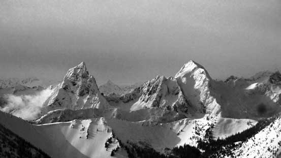 The double-summit shot of Hozomeen Mountain