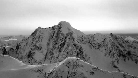 The steep N. Face of Castle Peak