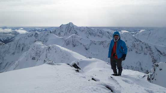 Me on the summit of Frosty Mountain