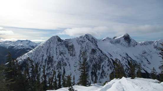 The north side of Thar Peak, Nak Peak and Yak Peak