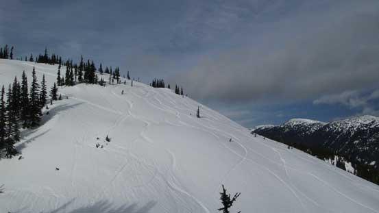 The steep slope ahead