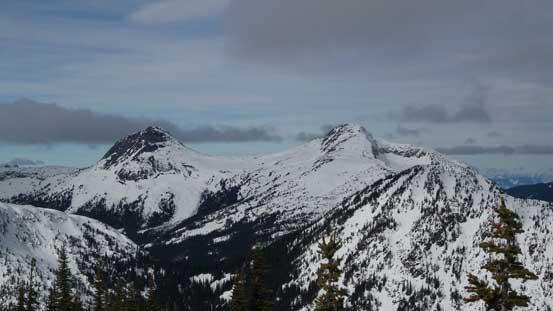 A closer look at Vicuna Peak and Guanaco Peak