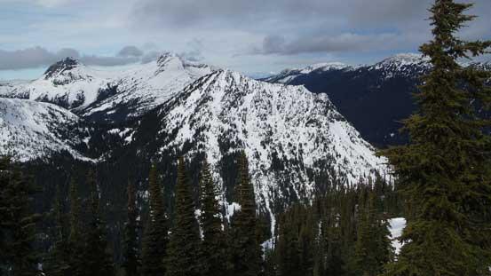 Zum Peak in the foreground