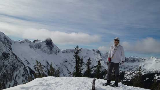 Me on the false summit with Zopkios Ridge behind