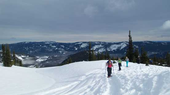 Another group of snowshoeers on their way up