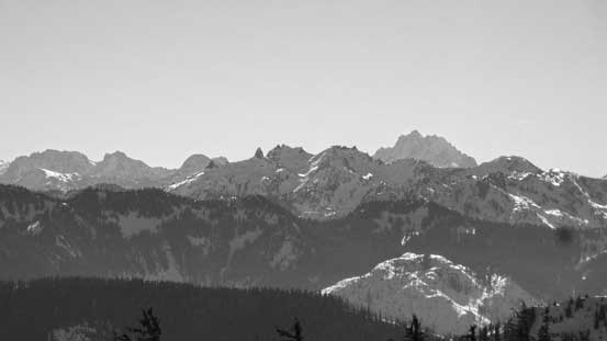 The mighty Mt. Stuart pokes behind from south-east. It's one of the fifty classics