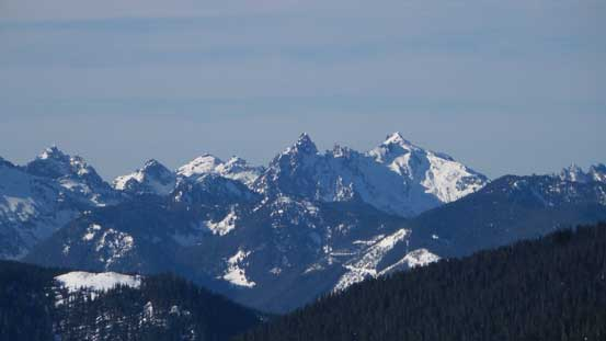 The impressive Gunn Peak along Highway 2 corridor