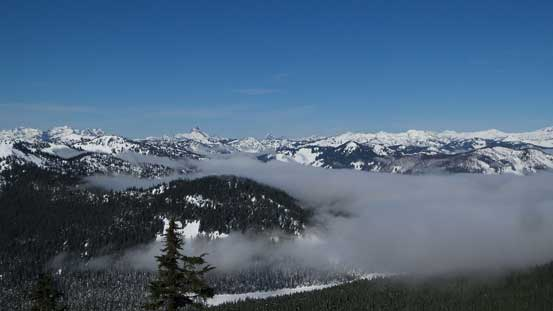 Another look at the valley inversion clouds.