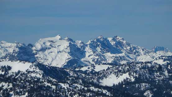 Kyes Peak and Cadet Peak in the very isolated Monte Cristo Group