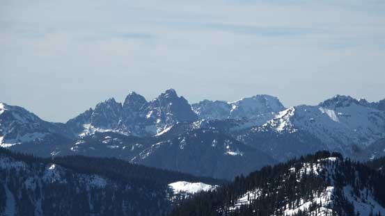 "The iconic Baring Mountain (L) is one of the ""steepest"" in Washington. Behind is another icon - Mt. Index"