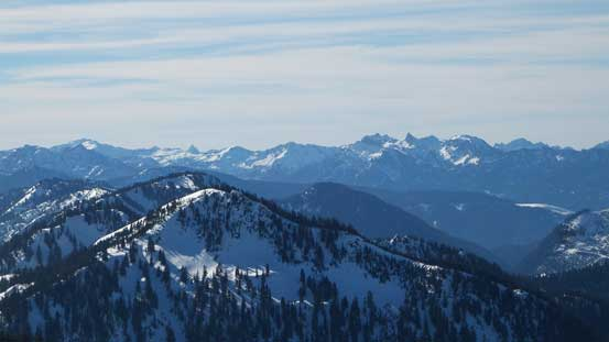 Looking south over Mt. McCausland (foreground) towards peaks such as Malachite Peak