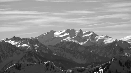 Mt. Danial in the beautiful Alpine Lakes area is very recognizable from north