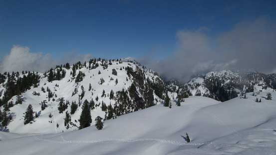 Looking towards the 2nd and 3rd peak on Mt. Seymour