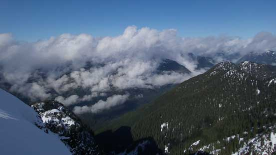 Clouds were obscuring the peaks along Howe Sound Crest