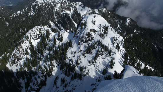 Looking down at Runner Peak