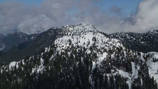 Mt. Bishop rises behind Mt. Elsay