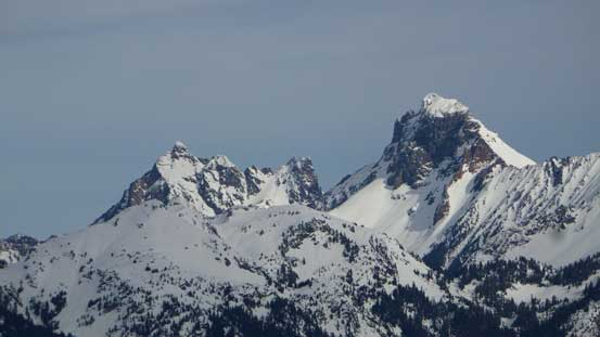 Canadian Border Peak (L) and American Border Peak (R)