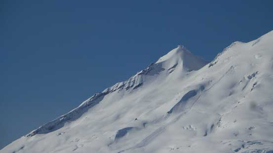 A zoomed-in view of Sherman Peak which is basically attached to Mt. Baker