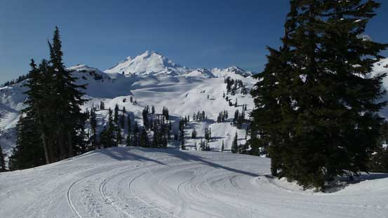 Looking back along the ski run