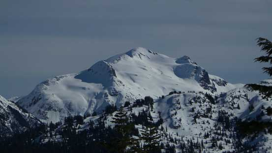 A zoomed-in view of Ruth Mountain