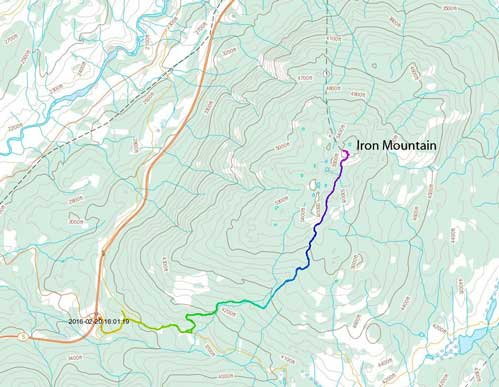 Iron Mountain hiking route