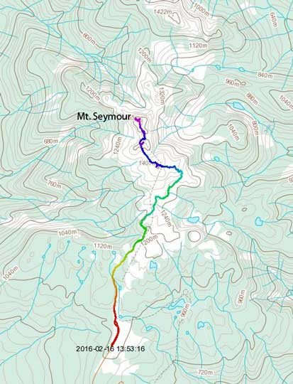 Mt. Seymour standard ascent route