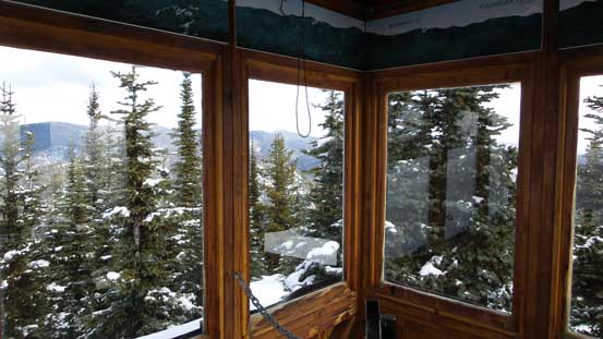 Inside the fire lookout