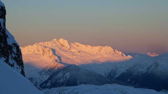 Alpenglow on the rugged Mt. Tantalus