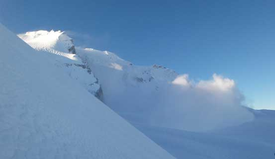 BOOM... A size 3 avalanche coming off the NW Face of Dalton Dome...