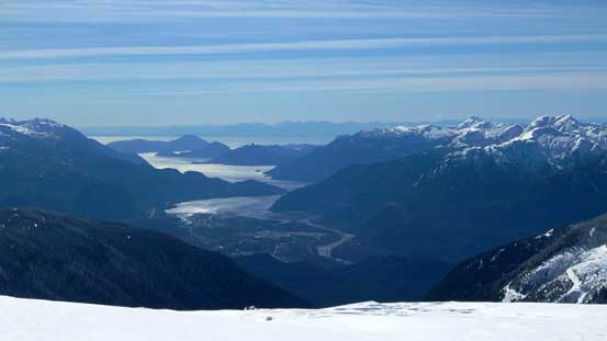 The Howe Sound was in sight for pretty much all day!