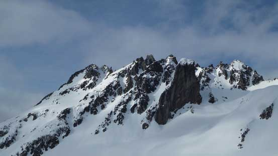 A look at the south side of Deception Peak's pinnacles