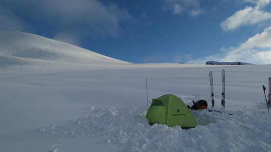 My tent on Sentinel Glacier