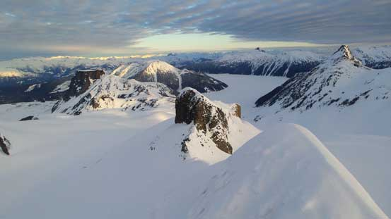 From the summit, looking down over the lower West Pike towards Garibaldi Lake