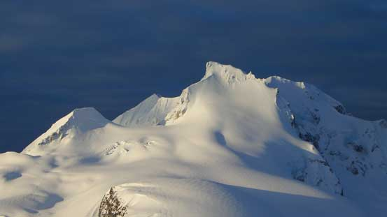 A zoomed-in view of the NE Face of Mt. Garibaldi - the route that we climbed in the previous trip