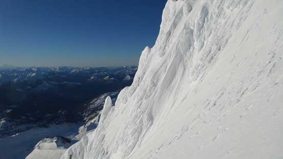 Impressive rime ice scenery