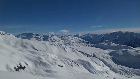 Looking across to the Garibaldi Neve