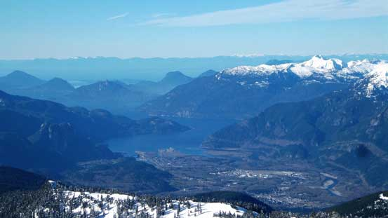Howe Sound and the city of Squamish