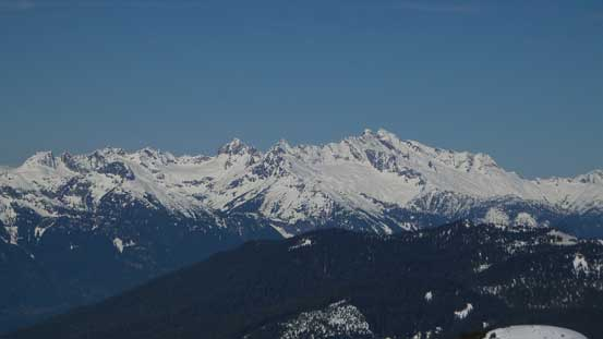 The rugged Tantalus Range