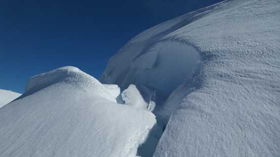 Cornices are ready to break off!