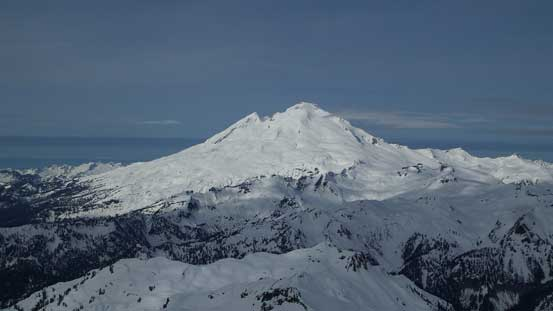 Gorgeous view of the nearby volcano - Mt. Baker