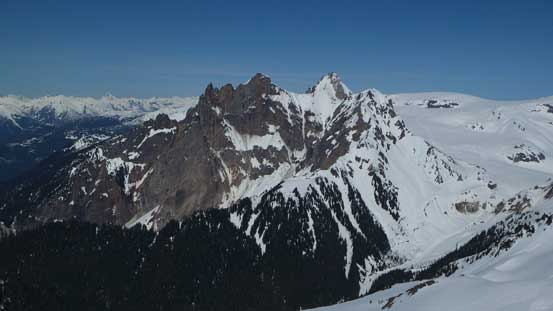 A wider view of the Cayley massif